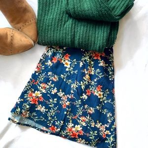 Button Down A Line Mini Skirt